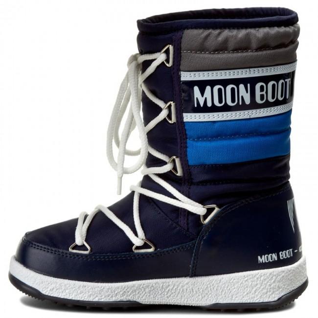 1ca912900b9 Dětské zimní boty Moon Boot Quilted JR WP Navy/Royal/Argento | SKIMAX.CZ