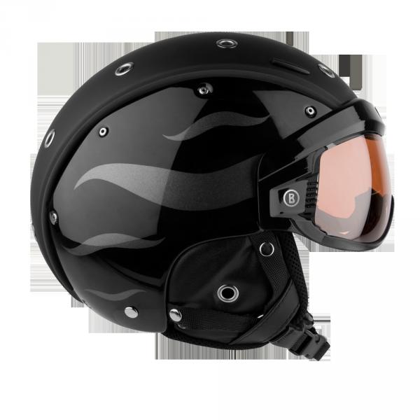 Lyžiarska prilba so štítom Bogner B-Visor Flames Black  7118f7ea6e1