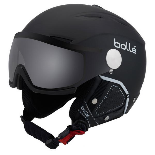 Lyžiarska prilba so štítom Bollé Backline Visor Premium Black White ... c48adb781a4