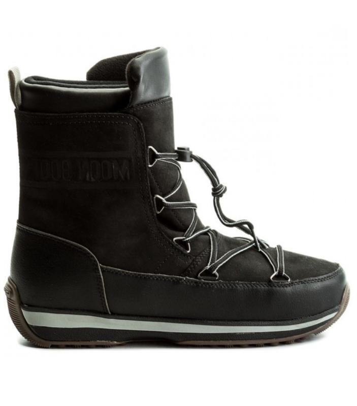 4cfa2fcf476 Pánské zimní boty Moon Boot Lem Leather WP Nero