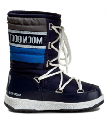 Detske zimni boty Moon Boot Quilted JR WP NavyRoyalArgento.png