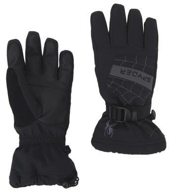 Detske rukavice Spyder Overweb 015 Blk Yel 1.jpg