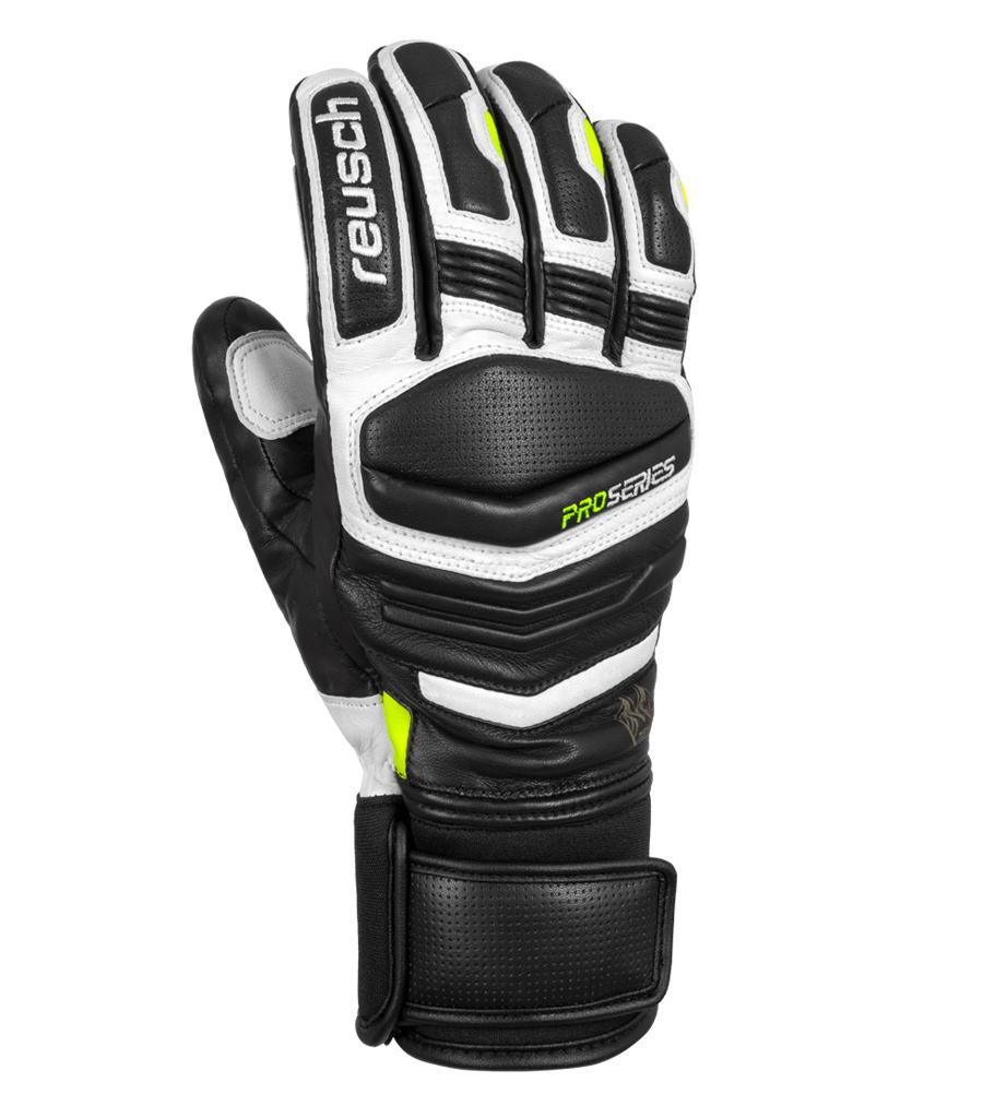 Pánské lyžařské rukavice Reusch Master Pro 126 White Black Safety ... b9b65443e9