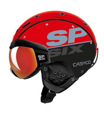 Lyzarska helma se stitem Casco SP-6 Visor Red Black.jpg