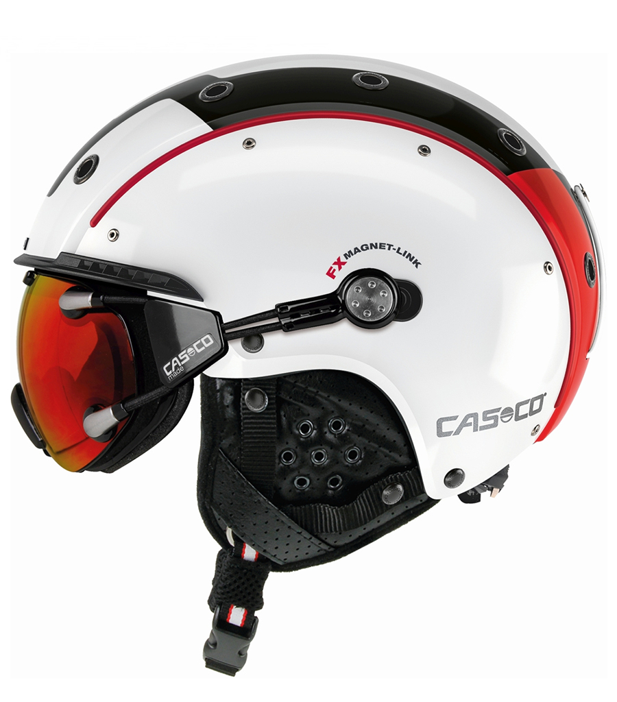 Lyžiarska prilba Casco SP-3 Competition White Red Black  d78a22af48c