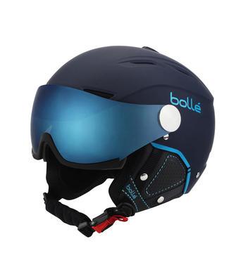 Lyzarska helma se stitem Bolle Backline Visor Premium Soft Navy Cyan.jpg