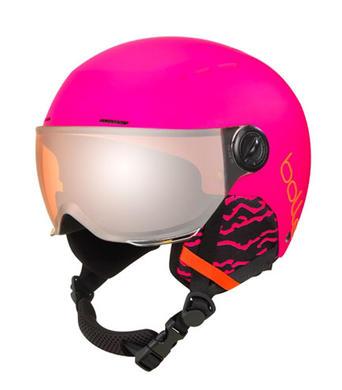 Detska lyzarska helma se stitem Bolle Quiz Visor Matte Hot Pink.jpg