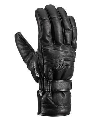 Panske lyzarske rukavice Leki Fusion S mf touch black.jpg