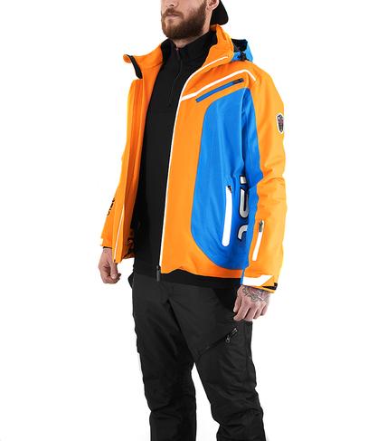 Panska lyzarska bunda Vist Alfredo Orange-Water-White 3.png