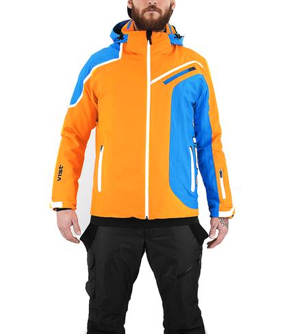 Panska lyzarska bunda Vist Alfredo Orange-Water-White 1.png