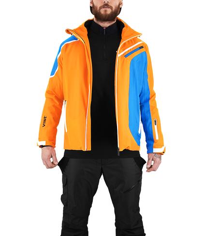 Panska lyzarska bunda Vist Alfredo Orange-Water-White 2.png
