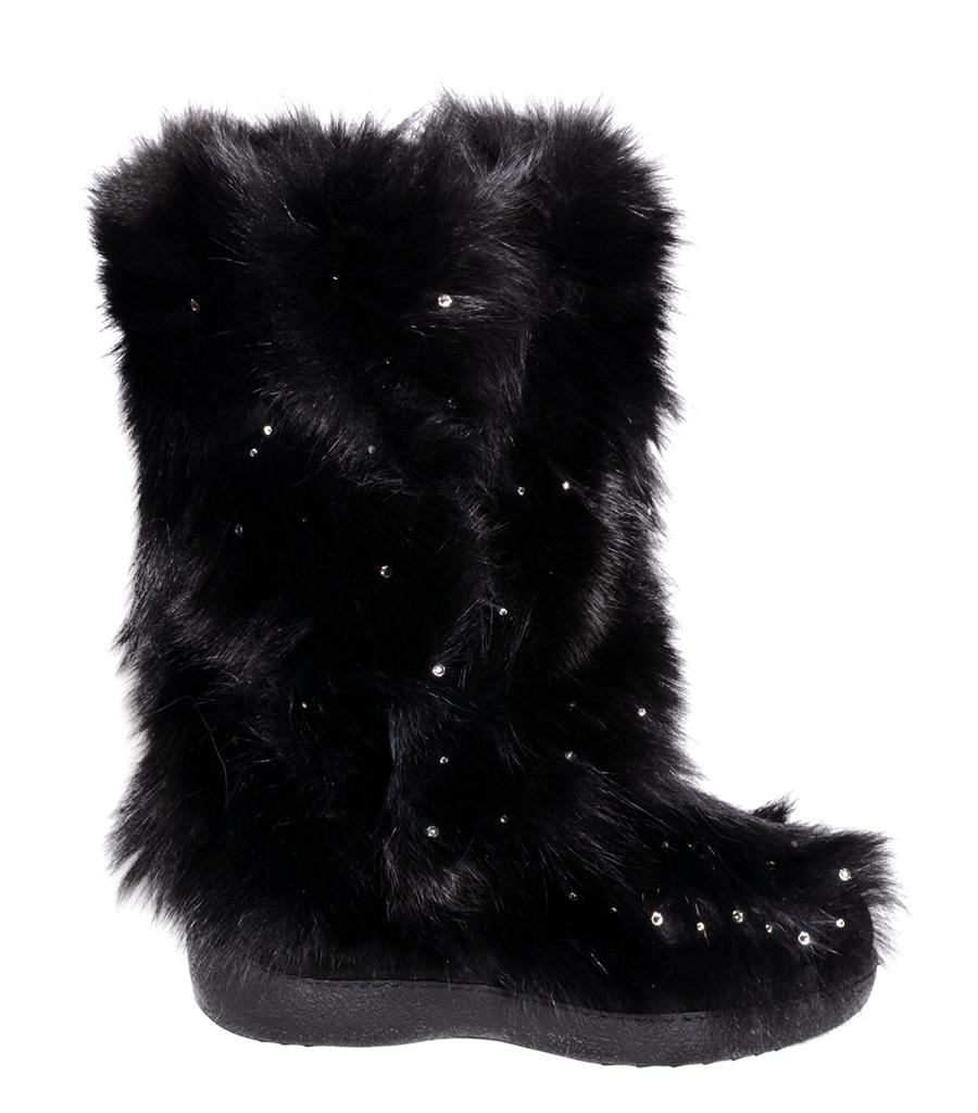 73f91b8c81f Dámské zimní boty Diavolezza black fox 613 - nízký podpatek