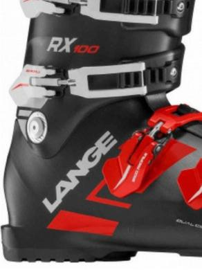 Panske lyzarske boty Lange RX 100 BlackRed.png