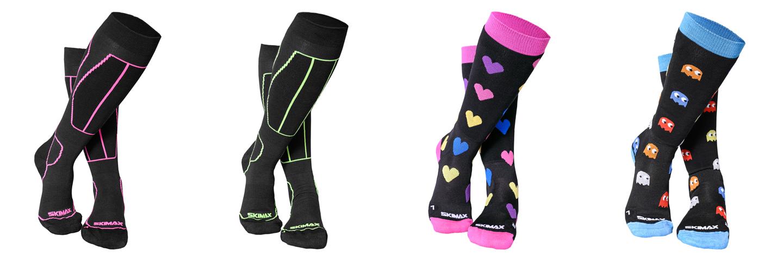 Jak vybrat lyžáky – Bezešvé lyžařské ponožky